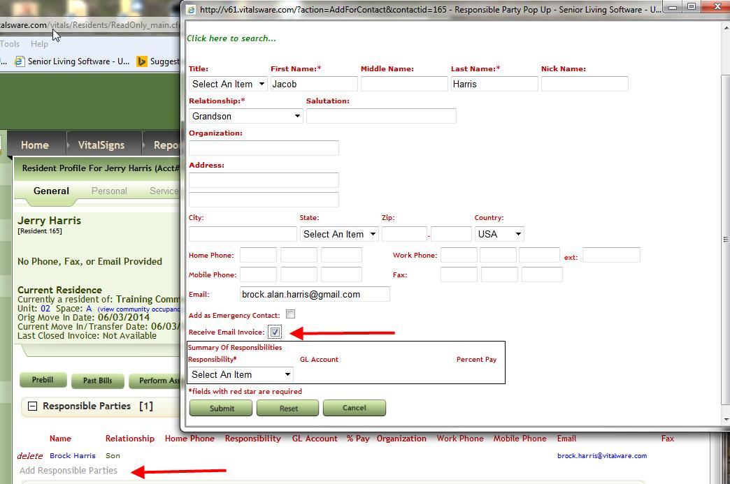 how do i send invoices via email vitals software support center